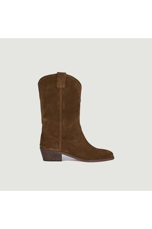 ANTHOLOGY PARIS Welson suede leather boots Tabac 409
