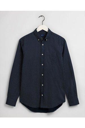 GANT Marine Geometric Floral Print Regular Fit Shirt 3009570