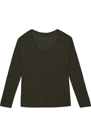 Rails Colby Long Sleeve Top - Olive Mini Spotted