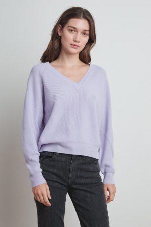 Velvet Toya Jumper In Lilac