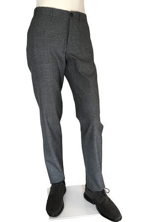 CANALI Marled Grey Regular Fit Wool Trousers V1019 6R