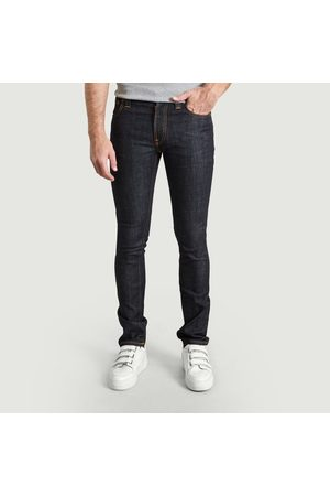 Nudie Jeans Men Jeans - Organic Cotton Thin Finn Jeans Dry Twill Jeans