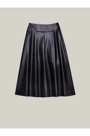Caractere Women Leather Skirts - Faux Leather Flared Skirt 1233A000255N