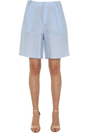 Jovonna Women Shorts - WOMEN'S LUANNABLUE LIGHT LINEN SHORTS