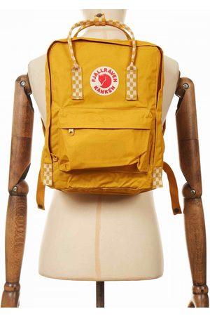 Fjällräven Women Rucksacks - Fjallraven Kanken Classic Backpack - Ochre-Chess Pattern Colour: Ochre