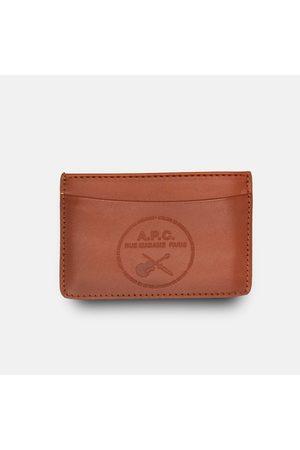 A.P.C. Men Wallets - . Andre Guitare Card Holder Wallet - Noisette