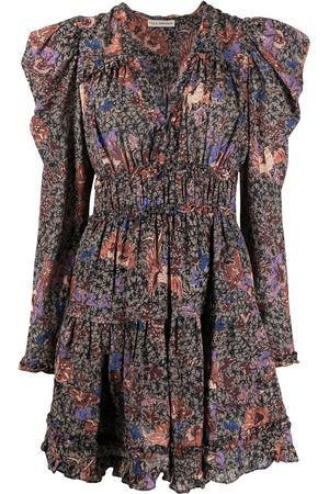 ULLA JOHNSON Floral print ruffle dress