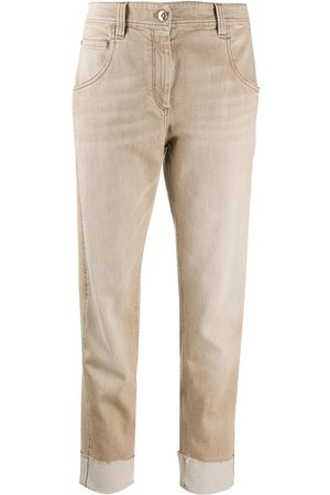 Brunello Cucinelli High-rise ankle-crop jeans