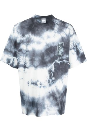 MARCELO BURLON COM TIE&DYE OVER TEE DARK BLUE