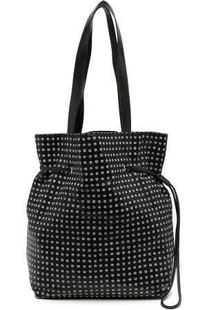 10 CORSO COMO Spot print leather bucket shoulder bag