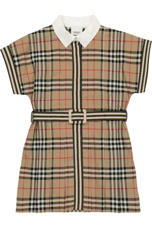 Burberry Vintage Check belted cotton dress