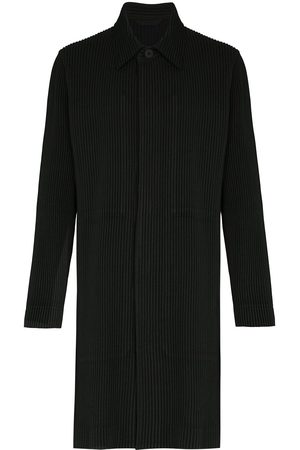 HOMME PLISSÉ ISSEY MIYAKE Single-breasted plissé coat