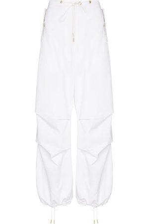 DION LEE Drawstring-waist wide-leg trousers