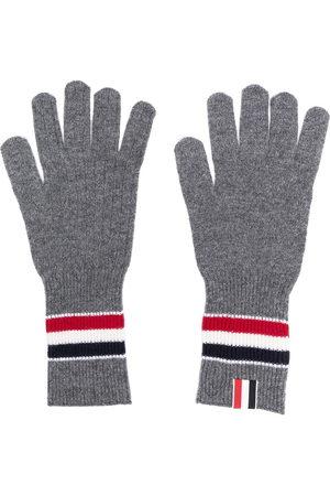 Thom Browne Merino wool stripe rib gloves