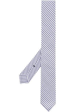 Thom Browne Men Bow Ties - Classic Necktie In Navy Seersucker