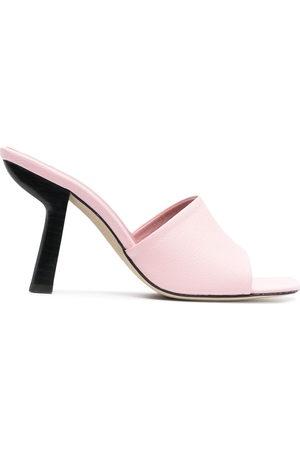 By Far Sculpted heel sandals