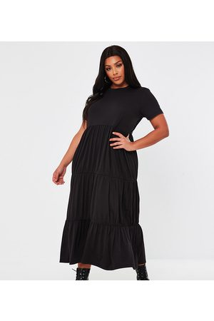 Missguided Jersey tiered maxi dress in