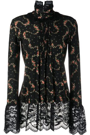 Paco rabanne Lace-trimmed floral top