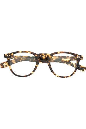 GARRETT LEIGHT Sunglasses - Tortoiseshell-effect round-frame glasses