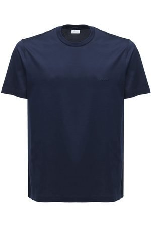 BRIONI Logo Embroidery Cotton Jersey T-shirt