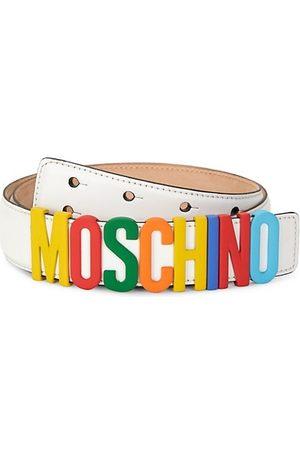 Moschino Fantasy Leather Logo Belt
