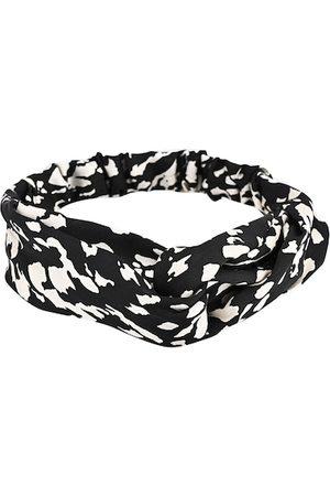 BuckleUp Women Black & White Printed Hairband