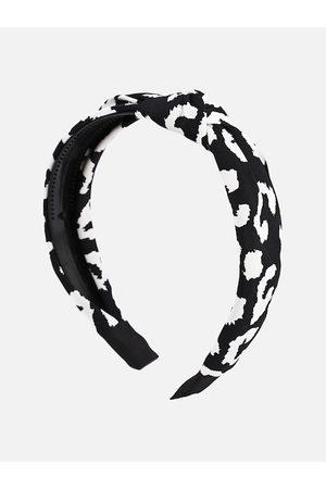 BuckleUp Women Black & White Printed Knot Style Hairband