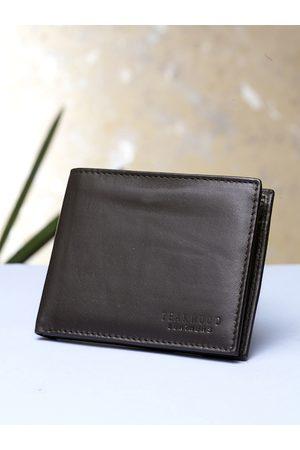 Teakwood Leathers Men Brown Solid Genuine Leather Bi Fold RFID Two Fold Wallet