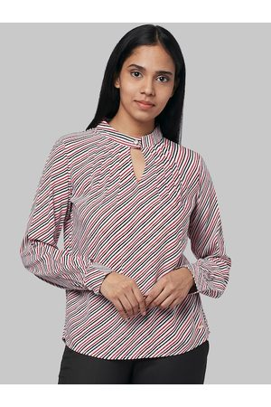 Park Avenue Women Red Printed Top