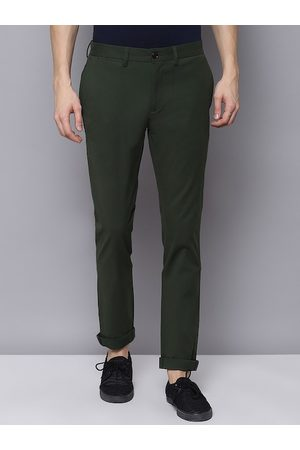 Ben Sherman Men Green Skinny Fit Solid Chinos