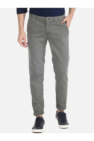Cherokee Men Grey Slim Fit Solid Regular Trousers