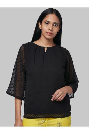 Park Avenue Women Black Solid Top