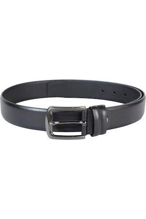 ZEVORA Men Black Textured Belt