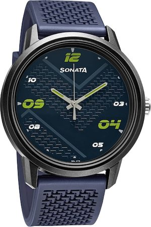 Sonata Men Blue Analogue Volt 3 Watch 77085PP14W