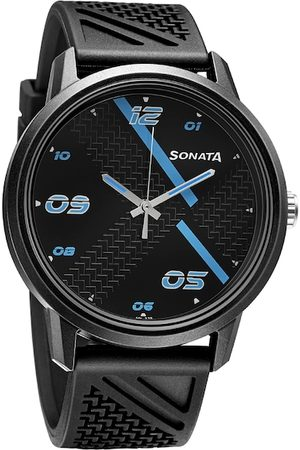 Sonata Men Black Analogue Watch 77085PP11W