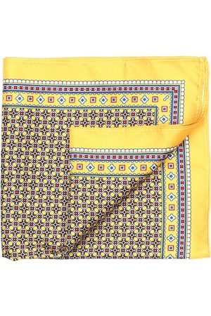 Arrow Men Yellow & Red Printed Pocket Square