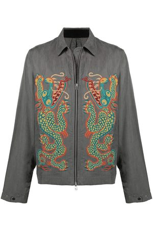 Maharishi Dragon-embroidered shirt jacket