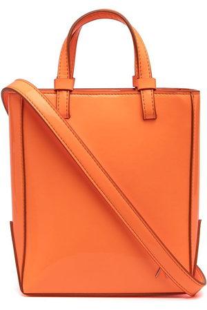 The Attico Open-top leather tote bag