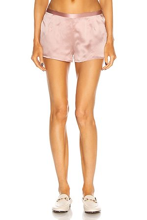 La Perla Silk Pajama Shorts in Powder