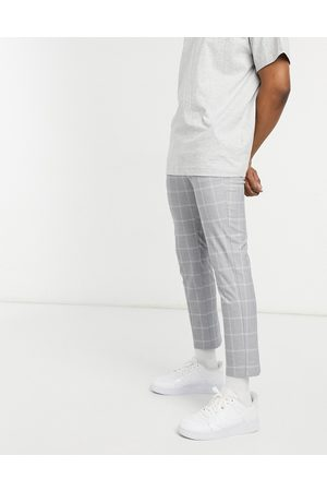 New Look Check smart trousers in
