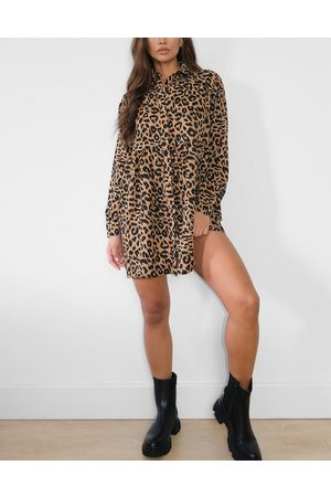 Missguided Shirt dress in leopard