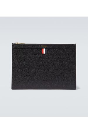 Thom Browne Grained leather tablet holder