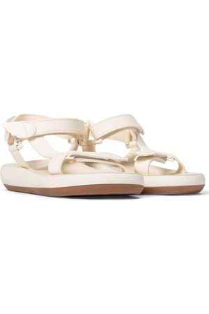 Ancient Greek Sandals Women Platform Sandals - Poria leather trekking sandals