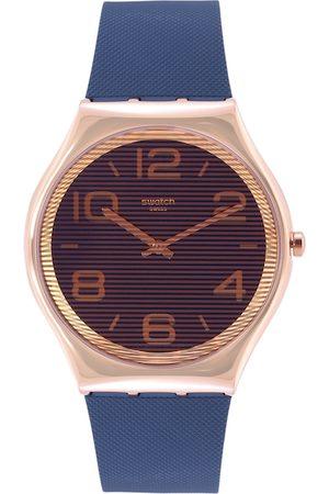 Swatch Unisex Navy Blue Analogue Watch
