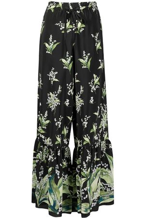 RED Valentino Women Wide Leg Trousers - May Lily printed flared trousers