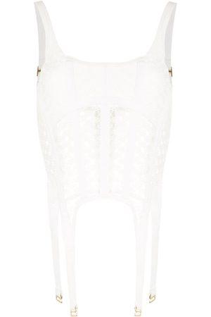 DION LEE Women Corsets - Lace-insert corset top