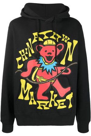 Chinatown Market Men Hoodies - Logo-print drawstring hoodie