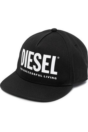 Diesel Boys Hats - Logo-print cotton cap
