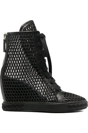 Casadei Webster 80mm mesh wedge boots