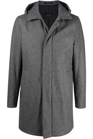 DELL'OGLIO Hooded single breasted coat